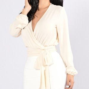 Ivory long sleeve top